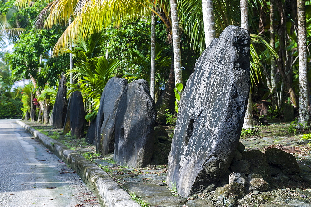 Stone money on the island of Yap, Federated States of Micronesia, Caroline Islands, Pacific