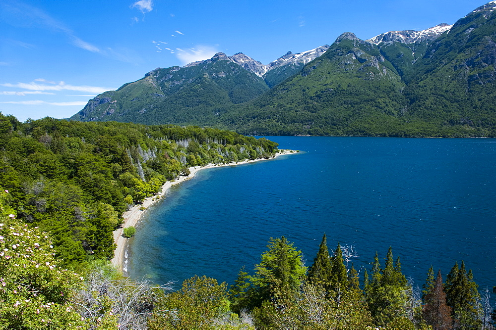 Beautiful mountain lake in the Los Alerces National Park, Chubut, Patagonia, Argentina, South America