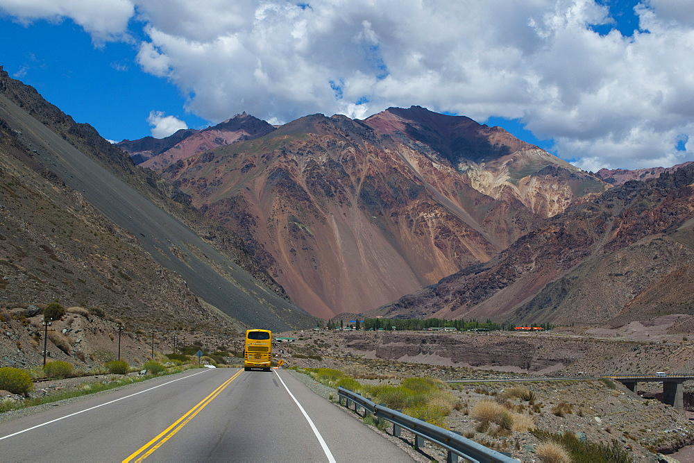 Mountain pass between Mendoza and Santiago, Andes, Argentina, South America