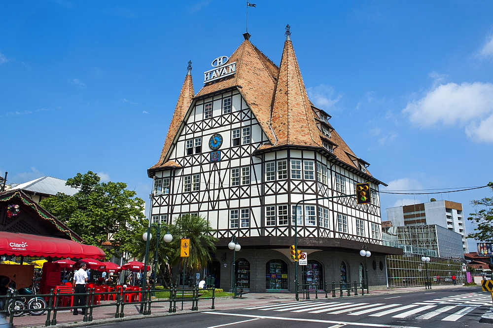 Colonial architecture in the German town of Blumenau, Brazil, South America