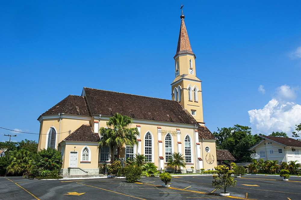 Lutheran church in the German speaking town of Pomerode, Brazil, South America