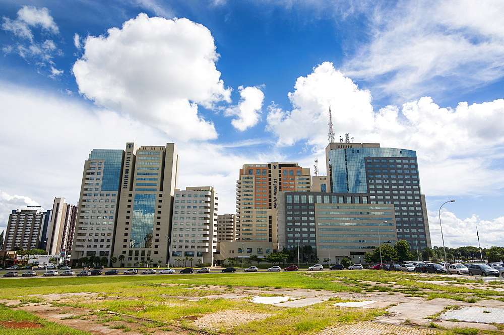 High rise buildings in the center of Brasilia, Brazil, South America