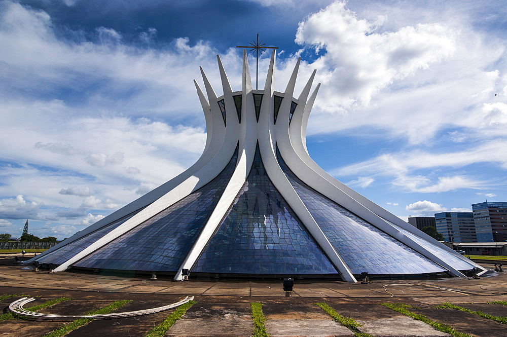 The Metropolitan Cathedral of Brasilia, UNESCO World Heritage Site, Brazil, South America