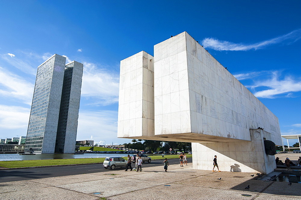 Juscelino Kubitschek Monument at the Square of the Three Powers, Brasilia, Brazil, South America
