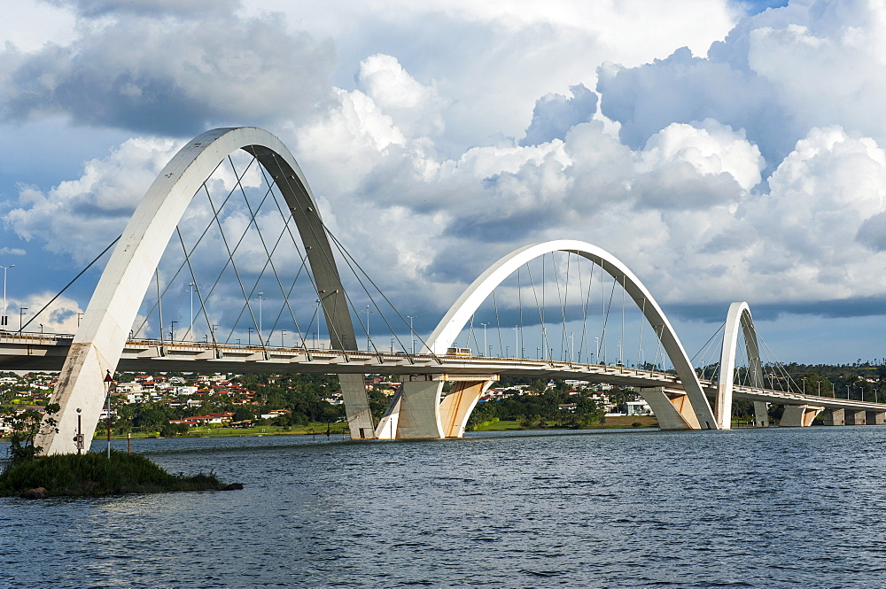 Bridge Kubitschek (JK Bridge), Brasilia, Brazil, South America
