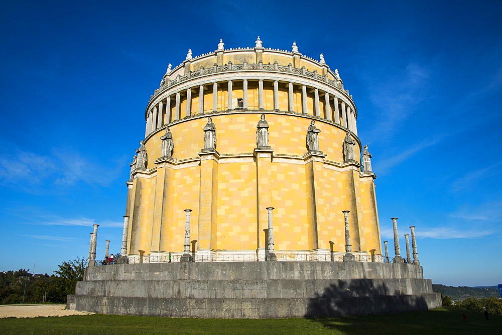 Befreiungshalle (Hall of Liberation) upon Mount Michelsberg above the city of Kelheim, Bavaria, Germany, Europe