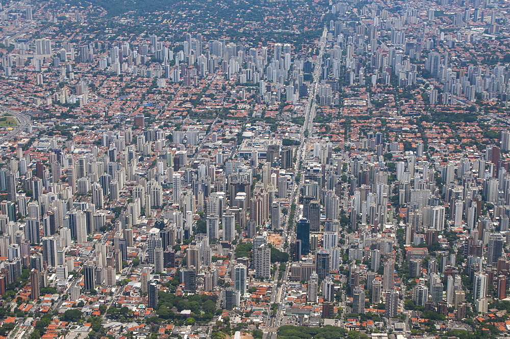 Aerial of Sao Paulo, Brazil, South America