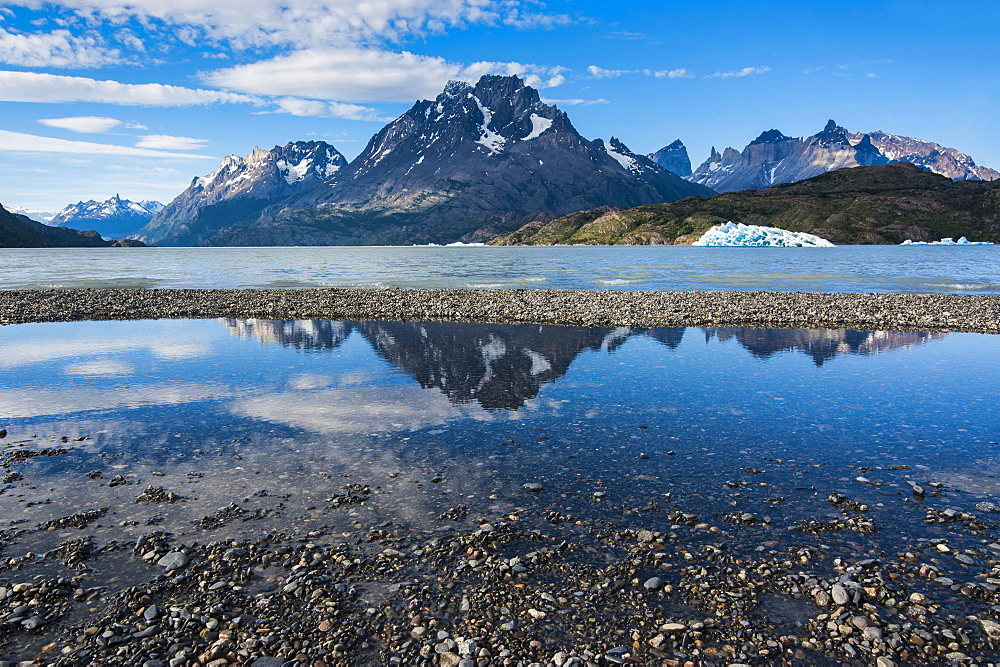 Lago Grey lake in the Torres del Paine National Park, Patagonia, Chile, South America