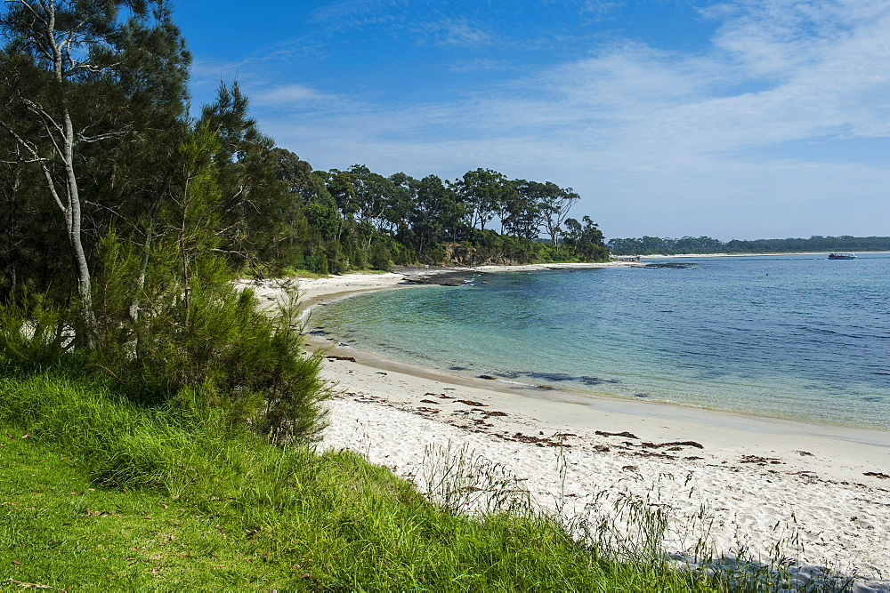 Pretty white sand beach at Jarvis Bay, New South Wales, Australia, Pacific
