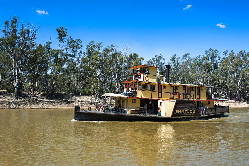 Old steamer in Echuca on the Murray River, Victoria, Australia, Pacific