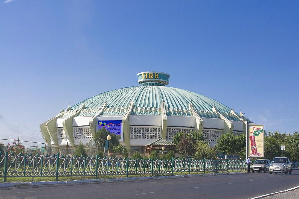 Soviet style building, Tashkent, Uzbekistan, Central Asia, Asia