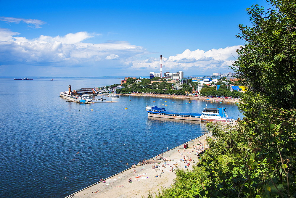 Sportivnaya Gavan boulevard, Vladivostok, Russia, Eurasia