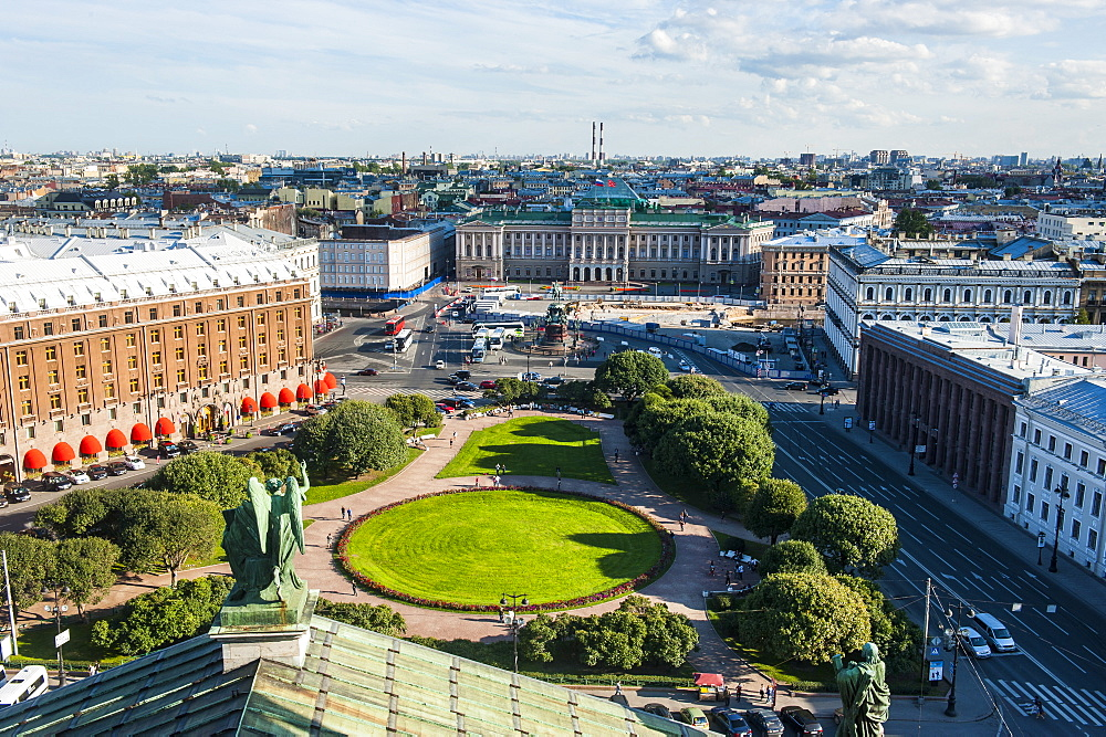 View from St. Isaac's Cathedral, St. Petersburg, Russia, Europe