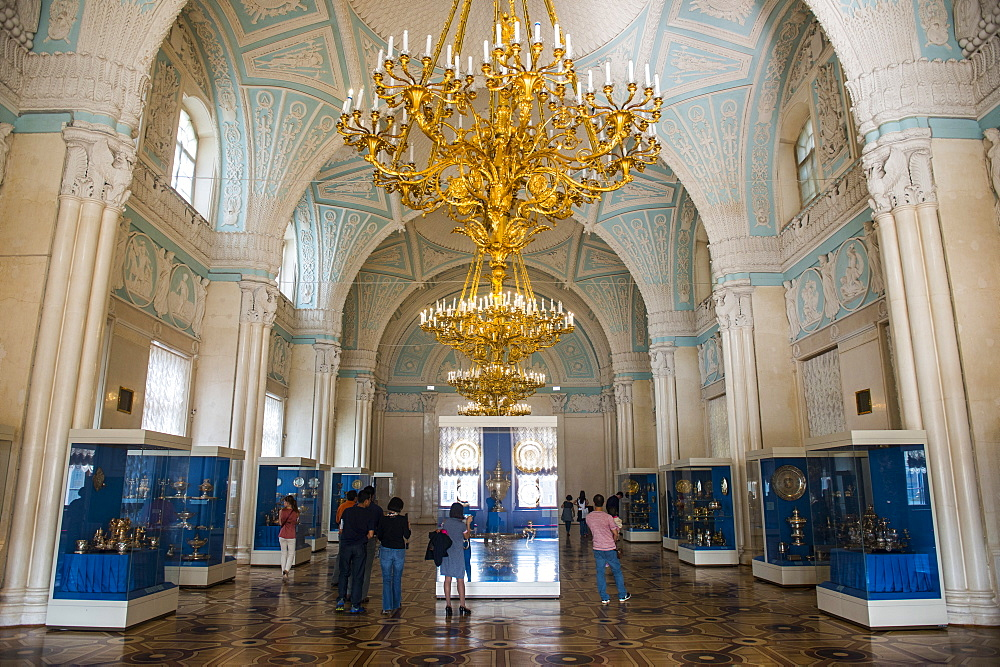 Inside the Hermitage (Winter Palace), UNESCO World Heritage Site, St. Petersburg, Russia, Europe