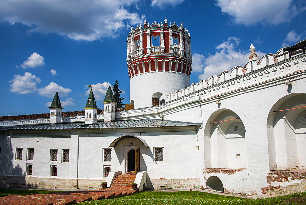 The outer walls of the Novodevichy Convent, Moscow, Russia, Europe