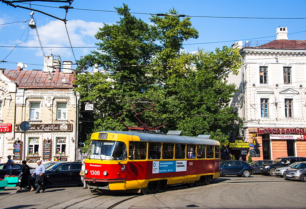 Tram in Moscow, Russia, Europe