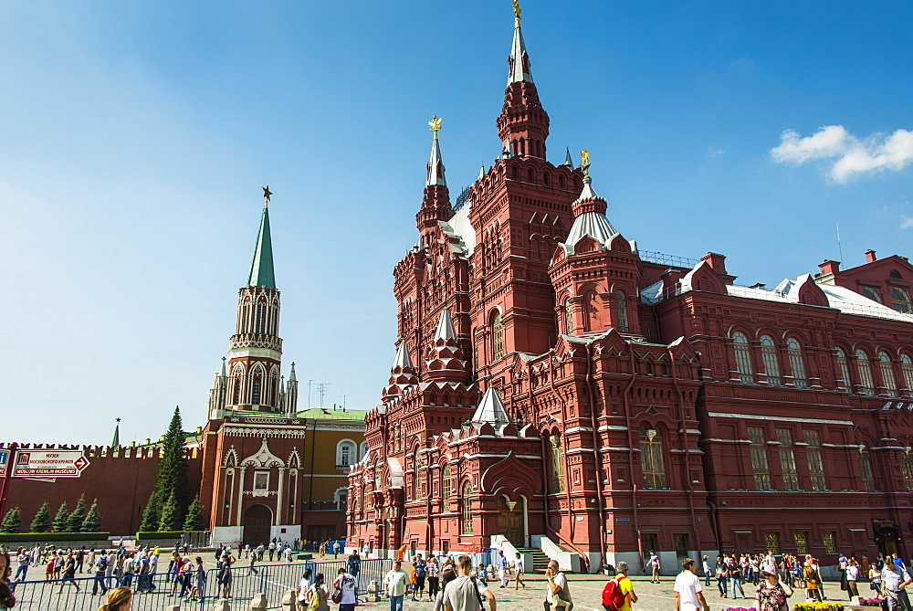The History Museum on Red Square, UNESCO World Heritage Site, Moscow, Russia, Europe