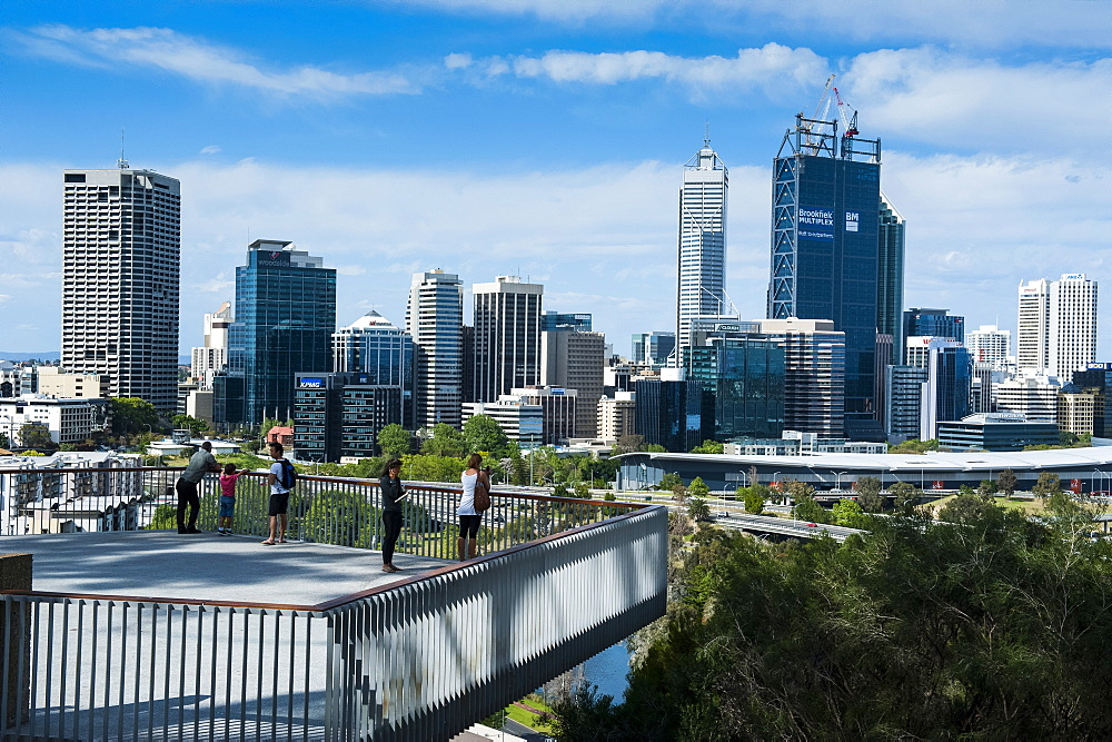 The skyline of Perth, Western Australia, Australia, Pacific