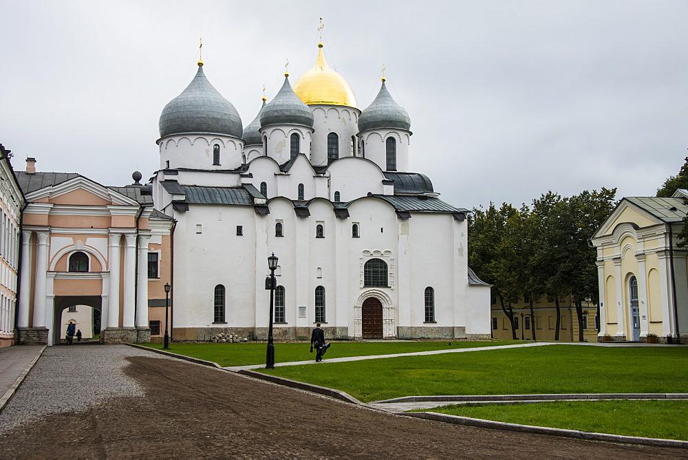Cathedral of St. Sophia, Kremlin of Novgorod, UNESCO World Heritage Site, Novgorod, Russia, Europe