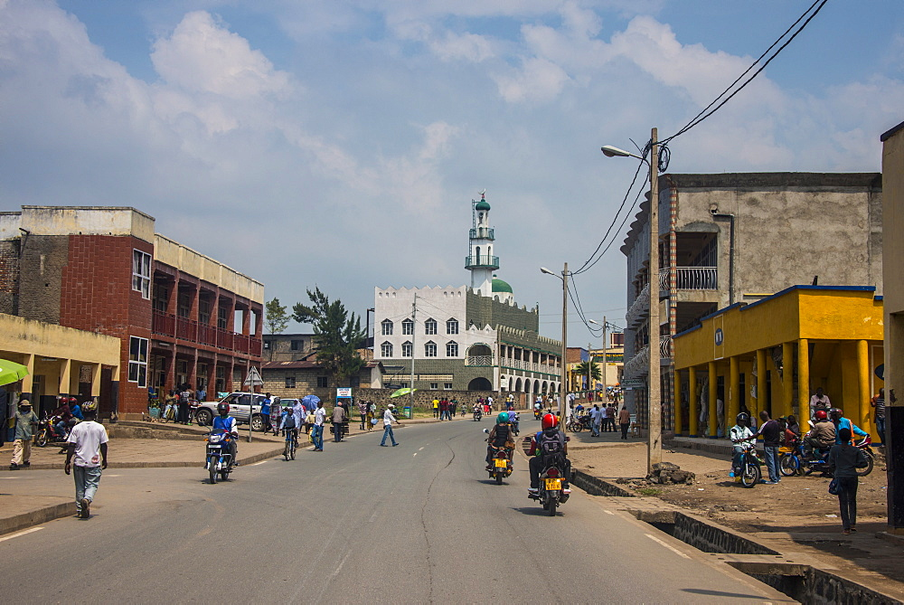Street scene in Gisenyi, Rwanda, Africa