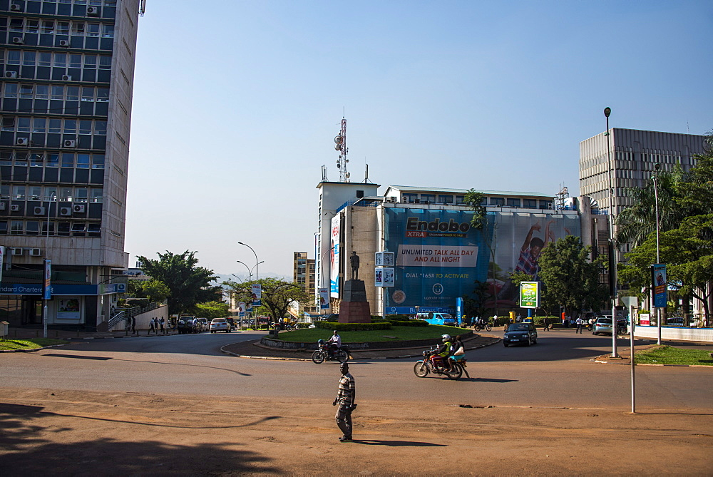 Central business district of Kampala, Uganda, East Africa, Africa