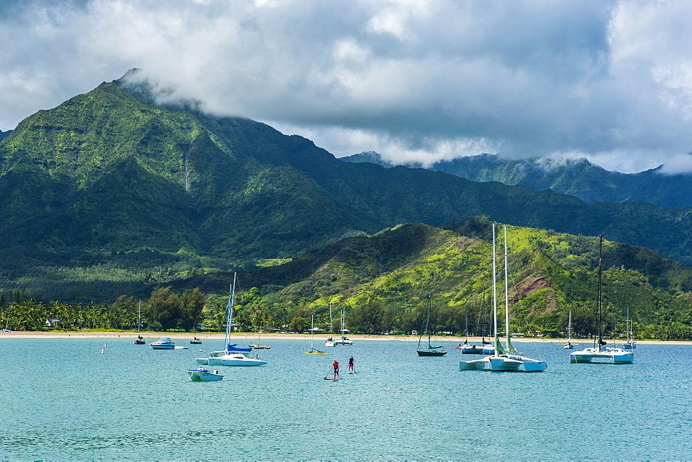 Bay of Hanalai on the island of Kauai, Hawaii, United States of America, Pacific