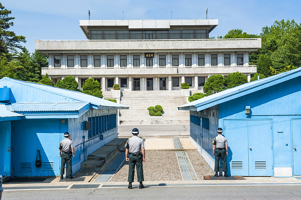 The high security border between South and North Korea, Panmunjom, South Korea, Asia