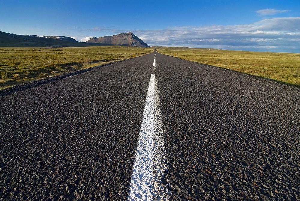 Long country road, Snaefellsjokull, Iceland, Polar Regions