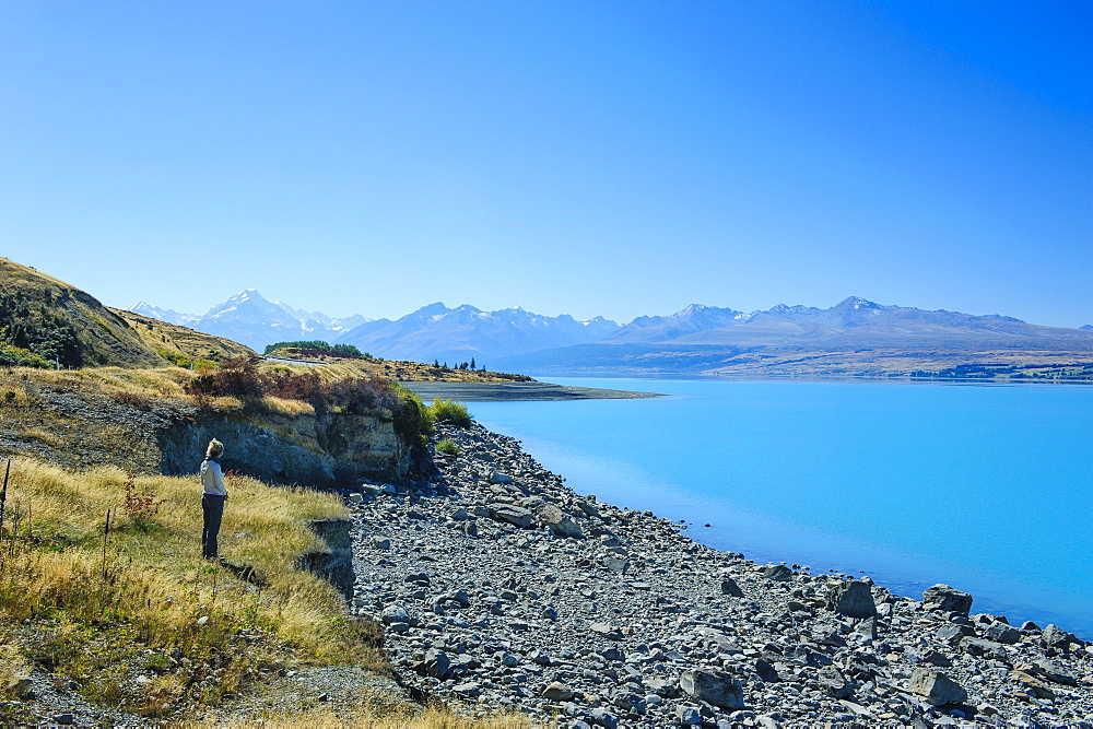 Lake Pukaki, Mount Cook National Park, UNESCO World Heritage Site, South Island, New Zealand, Pacific