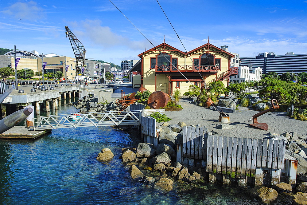 Waterfront around Lambton harbour, Wellington, North Island, New Zealand, Pacific