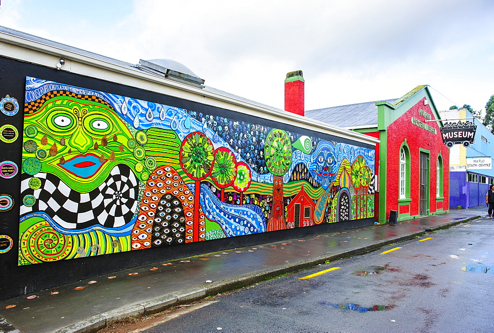 Hundertwasser wall painting in Kawakawa, Northland, North Island, New Zealand, Pacific - 816-6813