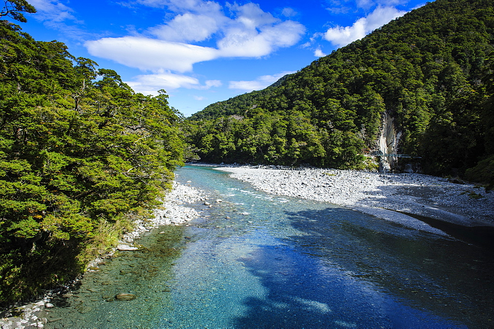 Beautiful Haast River, Haast Pass, South Island, New Zealand, Pacific