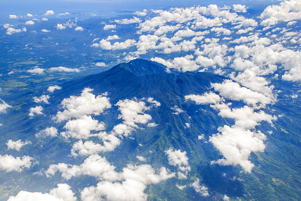 Aerial of Mount Malinao, Legaspi, Southern Luzon, Philippines, Southeast Asia, Asia