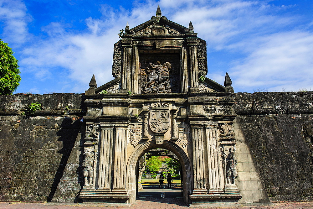 Entrance to the old Fort Santiago, Intramuros, Manila, Luzon, Philippines, Southeast Asia, Asia