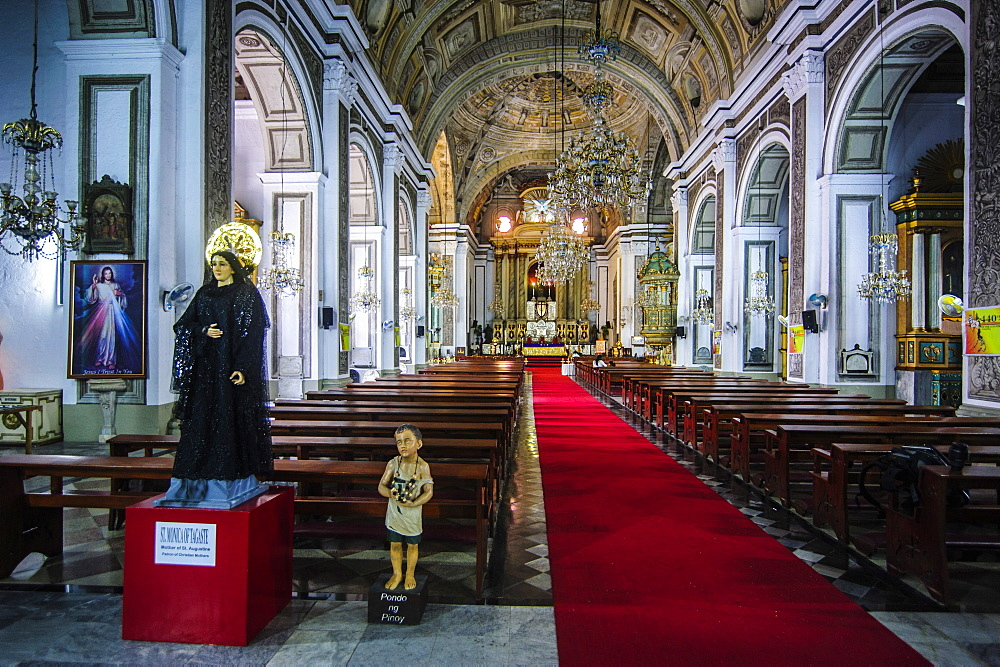 Interior of the San Augustin Church, Intramuros, Manila, Luzon, Philippines, Southeast Asia, Asia