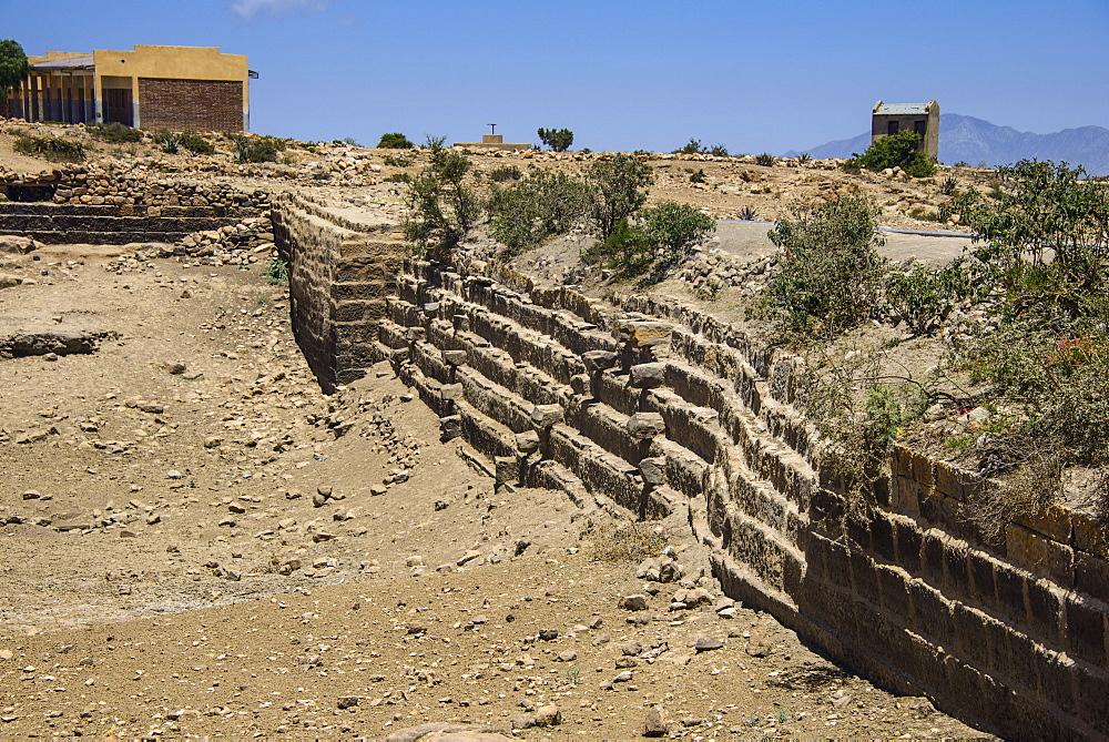 Ancient Sahira Dam at the Pre-Aksumite settlement of Qohaito, Eritrea, Africa
