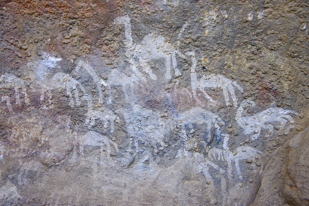Ancient rock paintings at the Pre-Aksumite settlement of Qohaito, Eritrea, Africa