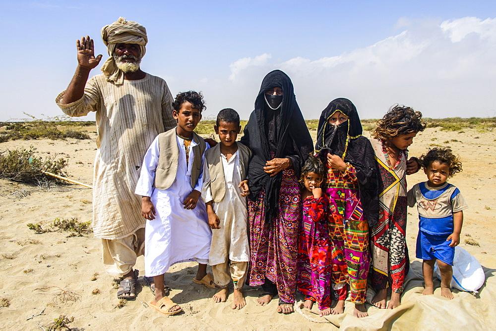 Rashaida family in the desert around Massawa, Eritrea, Africa