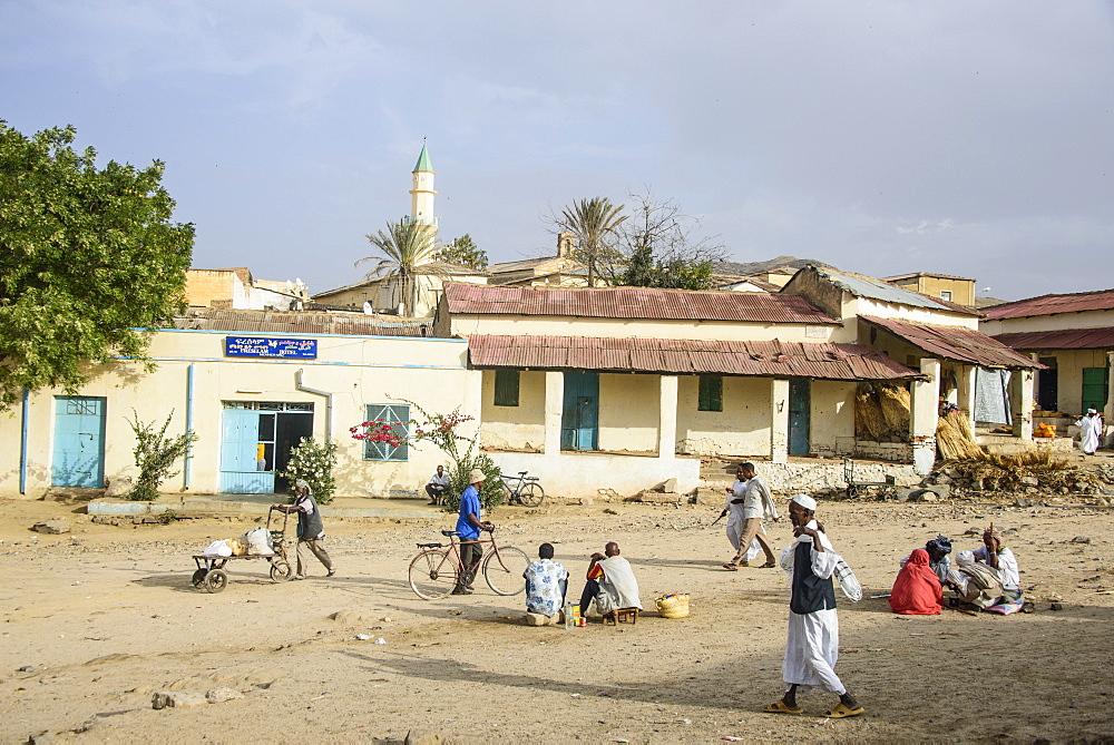 Street scene in the town of Keren, Eritrea, Africa