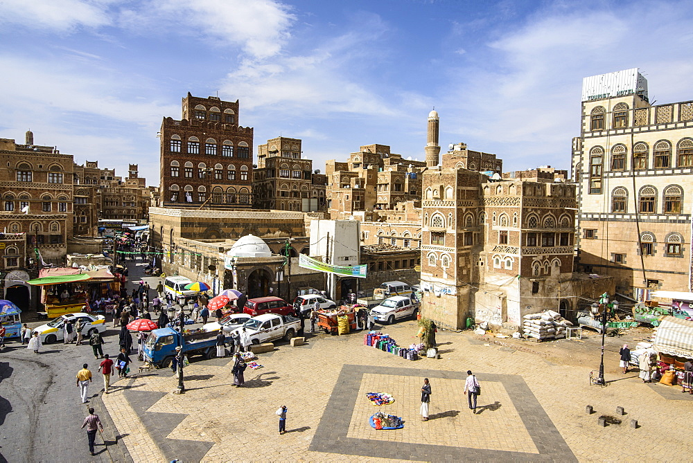 The Old Town, UNESCO World Heritage Site, Sanaa, Yemen, Middle East
