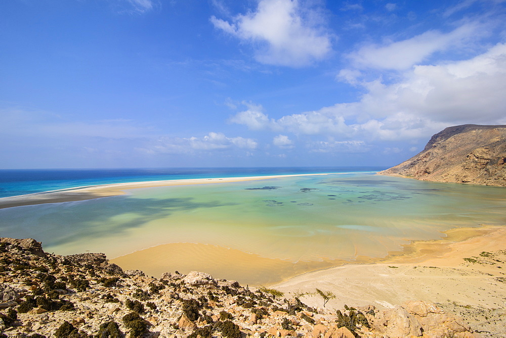 Detwah Lagoon near Qalansia at the west coast of the island of Socotra, UNESCO World Heritage Site, Yemen, Middle East