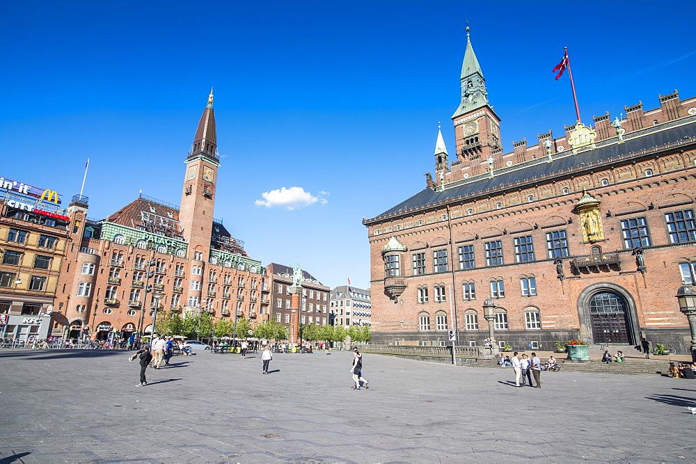 Copenhagen City Hall, Copenhagen, Denmark, Scandinavia, Europe