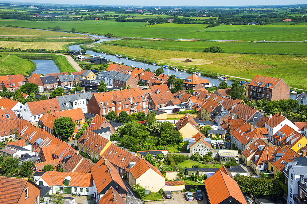 View over Ribe, Denmark's oldest surviving city, Jutland, Denmark, Scandinavia, Europe