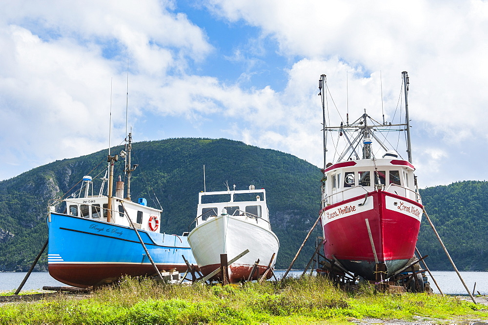 Fishing boat in Corner Brook, Newfoundland, Canada, North America