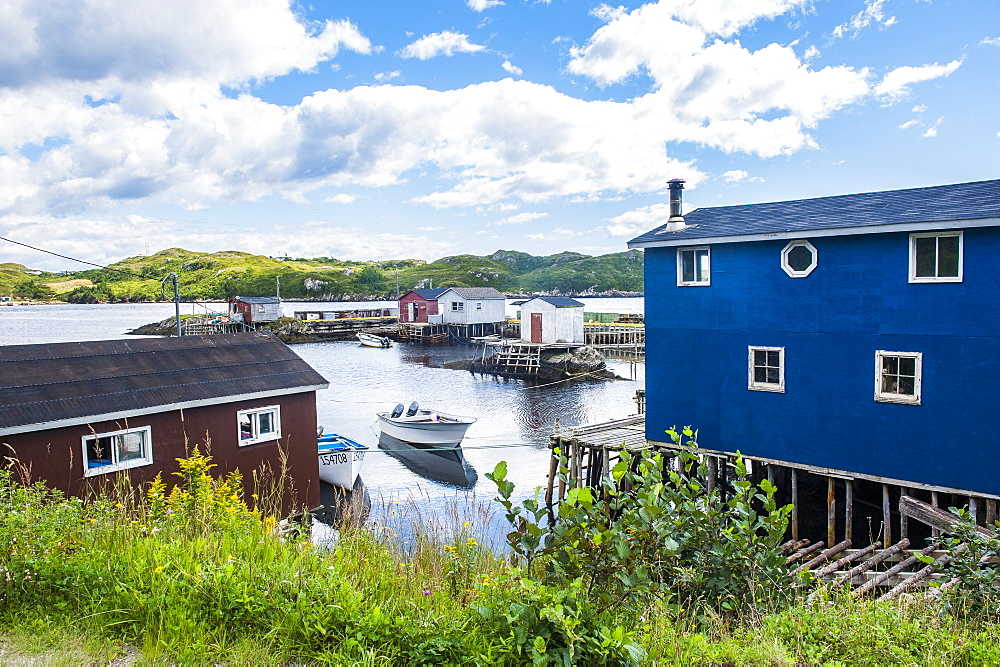 Fishing cabins in Rose Blanche, Newfoundland, Canada, North America