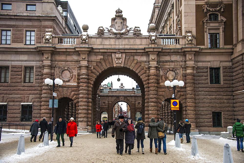 The old quarter of Gamla Stan in Stockholm, Sweden, Scandinavia, Europe