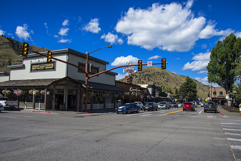 The town center of Jackson Hole, Wyoming, United States of America, North America