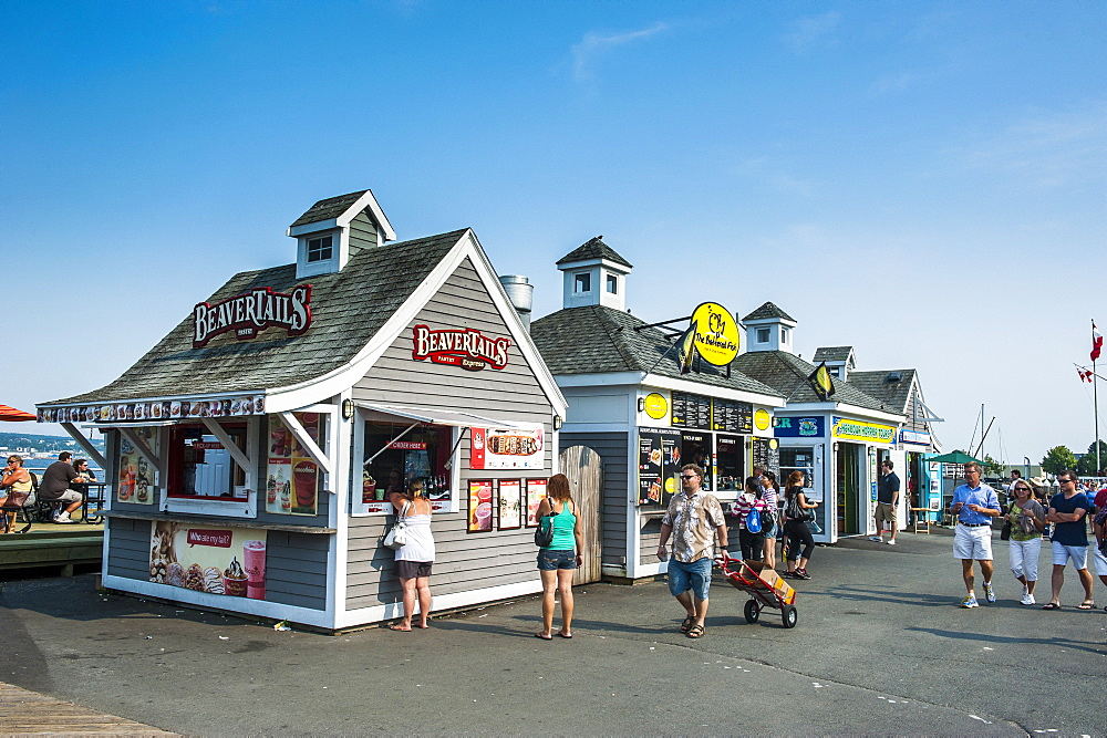 Little shops on the Halifax Waterfront, Halifax, Nova Scotia, Canada, Noth America