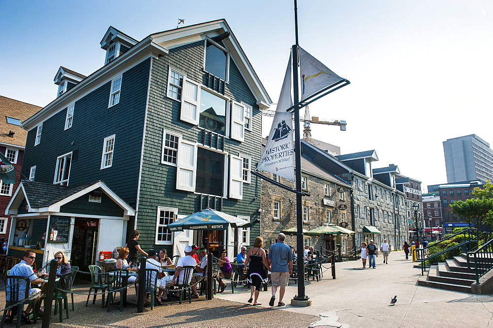 Privateers Wharf on the waterfront of Halifax, Nova Scotia, Canada, North America