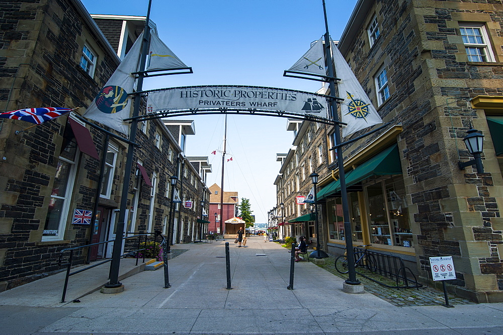 Entrance to the Privateers Wharf, Halifax, Nova Scotia, Canada, North America